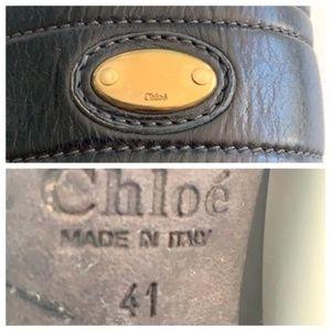 Chloe Shoes - Chloé Black Leather Heeled Knee High Boots